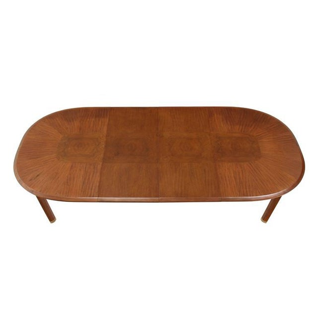 """Very nice Mid-Century Modern dining table with 2 x 18"""" leaves. The piece was created by Edmund Spence."""