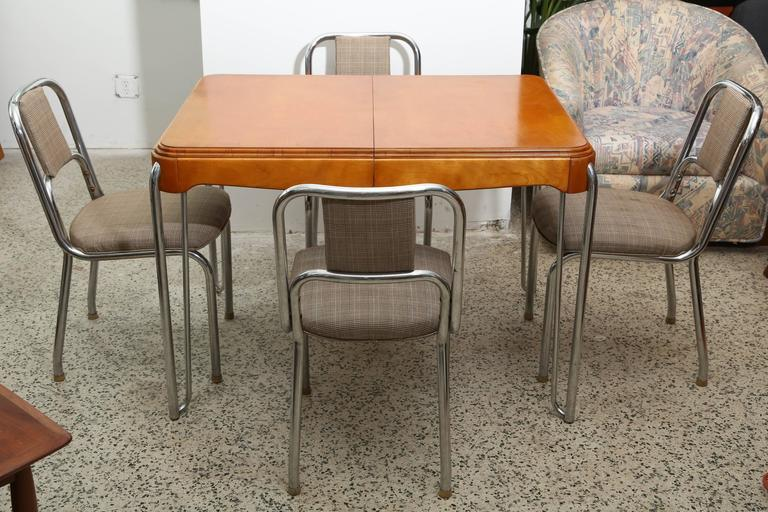 art deco kitchen table with four chairs 1940s france   image 4 of 7 world class art deco kitchen table with four chairs 1940s france      rh   decaso com
