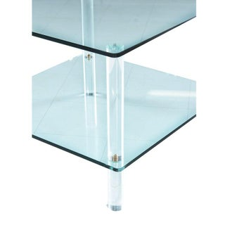 Leon Rosen for Pace Collection Style Lucite Screw Leg and Glass Coffee Table Preview