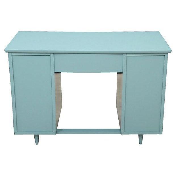 Mid-Century Pale Blue Desk - Image 7 of 7