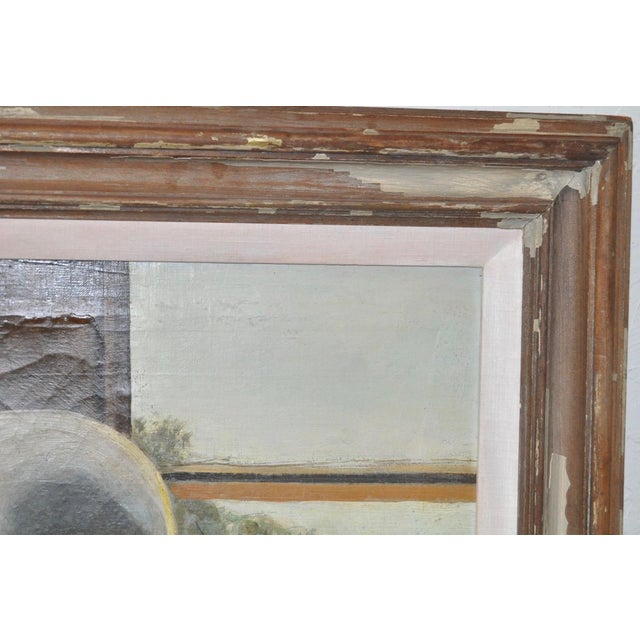 "1930s Stephen Etnier (American, 1903-1984) ""Studio Window"" Original Oil Painting C.1932 For Sale - Image 5 of 10"