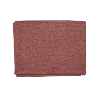 Red Wool & Cashmere Blanket - King For Sale