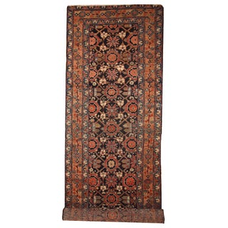 Antique Handmade Persian Hamadan Runner - 3' X 13' For Sale