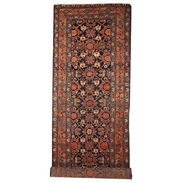Antique Handmade Persian Hamadan Runner - 3' X 13' For Sale