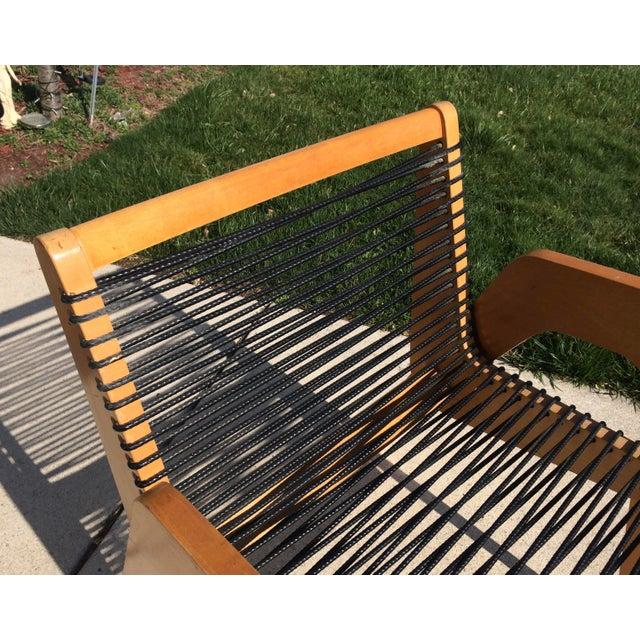Wood Vintage Robert Kayton Cord Chair For Sale - Image 7 of 9