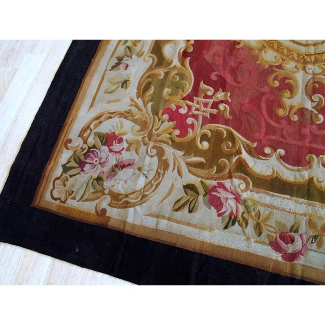 1860s, Handmade Antique French Abussan Flat-Weave For Sale - Image 4 of 12