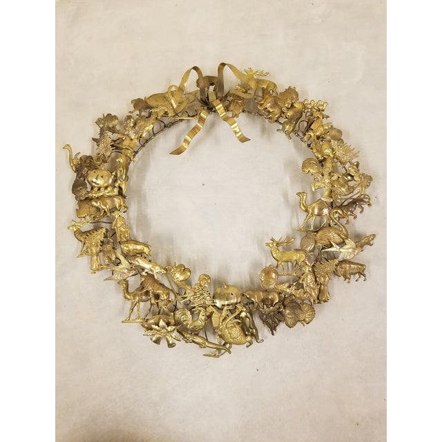 Mid 20th Century Dresden Holiday Wreath For Sale - Image 5 of 5