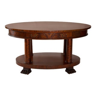Oval American Empire Table with Claw Feet For Sale