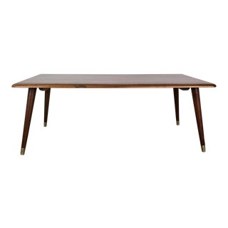 Mid-Century Modern Walnut Coffee Table For Sale