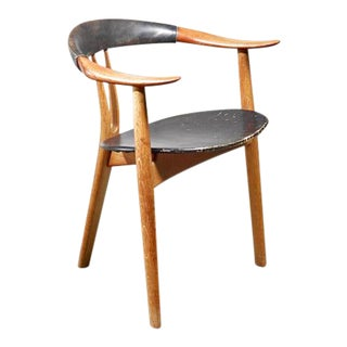 Arne Hovmand-Olsen Three-Legged Chair, Denmark, 1950s For Sale