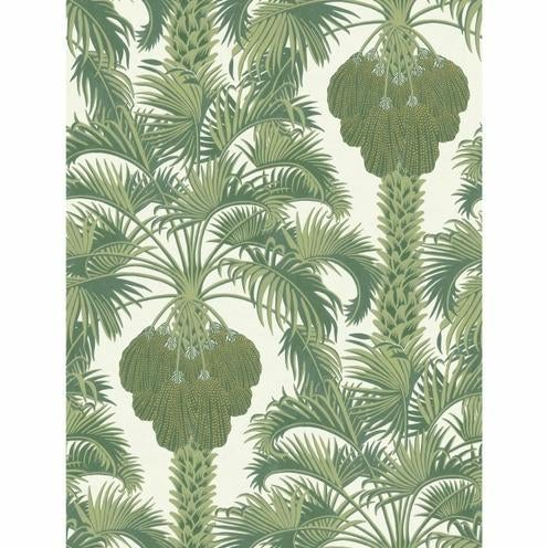 Contemporary Cole & Son Hollywood Palm Border Wallpaper Roll - Leaf Green For Sale - Image 3 of 3