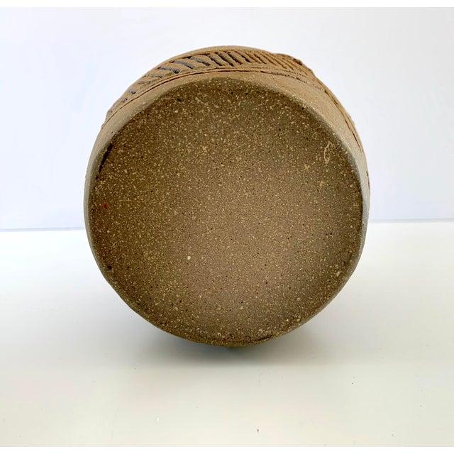 "Vintage Signed ""Moni"" Ceramic Vase, Mid Century Era For Sale - Image 12 of 13"
