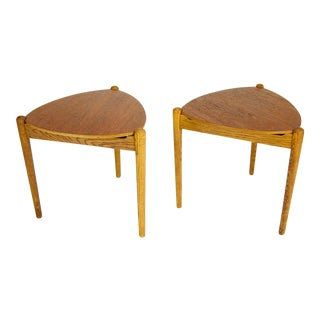 Hans Olsen Reversible Table Stools - A Pair For Sale