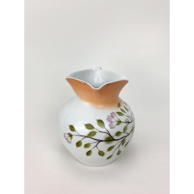 Early 20th Century 20th Century Traditional Autumn Magnolias Porcelain Pitcher For Sale - Image 5 of 6