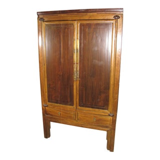 Antique Chinese Elmwood Armoire For Sale