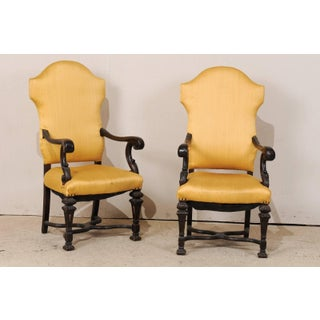 Late 19th Century Italian Carved Wood Armchairs- A Pair Preview