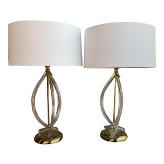 Vintage Dorothy Draper Lucite Lamps - a Pair For Sale