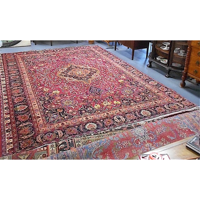 Semi Antique Persian Medallion Rug - 9' x 12' - Image 4 of 10