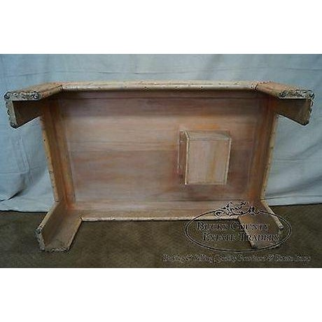 Vintage Art Deco Rattan Bamboo Coffee Table For Sale - Image 10 of 13