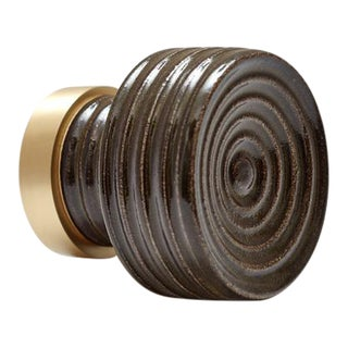 Nest Studio Collection Glaze-01 Charcoal Brown Knob For Sale