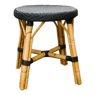 "Contemporary Sika ""Simone"" Rattan Dining Stool"