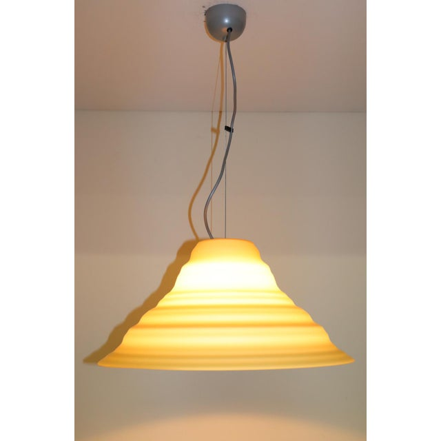 "Murano ""Incamiciato"" Amber Murano Glass Mid-Century Modern Pendant Light For Sale - Image 4 of 11"