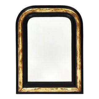 Napoleon III Period Black and Gold Mirror For Sale