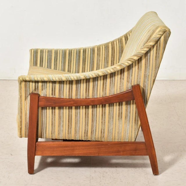 1960s Dux Inc. By Folke Ohlsson Glider Lounge Chair For Sale - Image 5 of 6