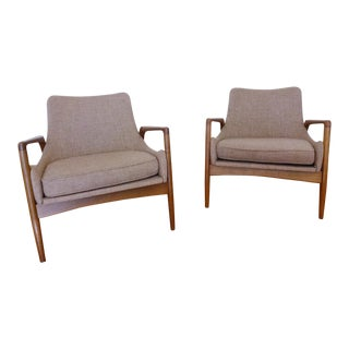 1950s Kofod Larsen Mid-Century Lounge Chairs - a Pair