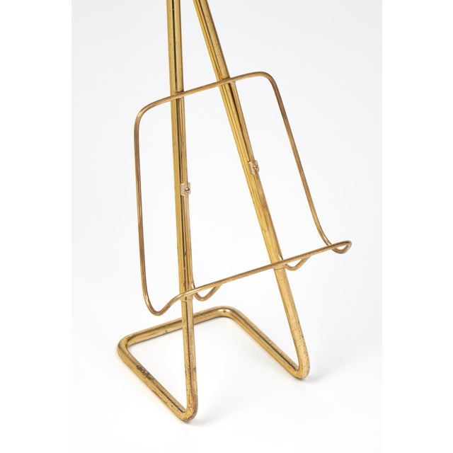 Gold French Mid-Century Brass Ashtray Magazine Stand For Sale - Image 8 of 9