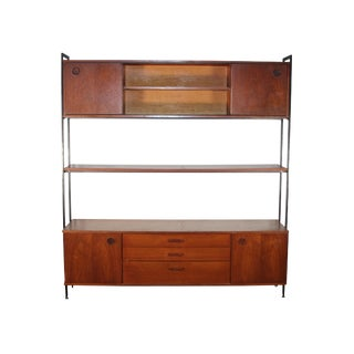 1960's Free Standing Teak Wall Unit by Avalon For Sale
