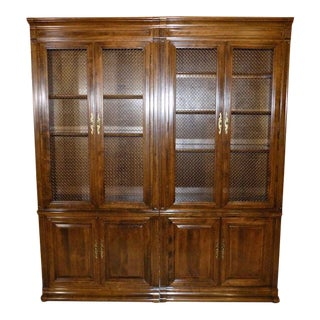 Ethan Allen Classic Manor Library Bookcase Cabinets - a Pair For Sale