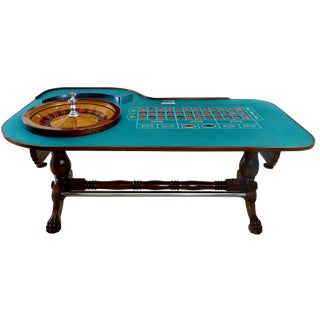 Great Gatsby Era 1920's Mahogany Roulette Table From O'Dwyer's Casino For Sale