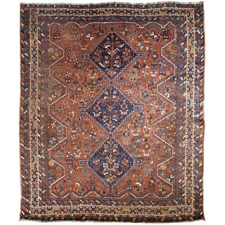 "Persian Shiraz Rug 5'10"" x 6'9"" For Sale"