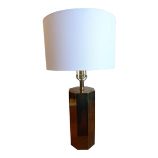 Modern Brass Octagon Table Lamp