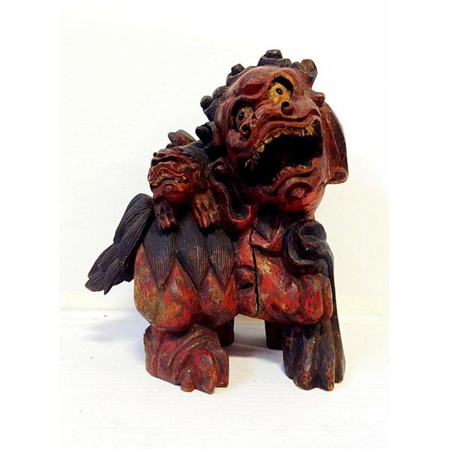 19th Century Chinese Carved Foo Dogs - 3 - Image 3 of 9