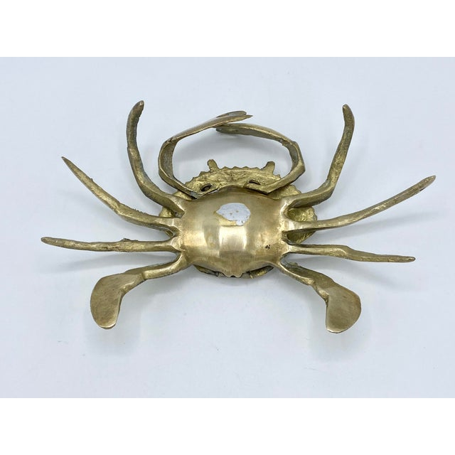 1950s Mid-Century Brass Crab Ashtray With Hinged Lid For Sale - Image 5 of 7