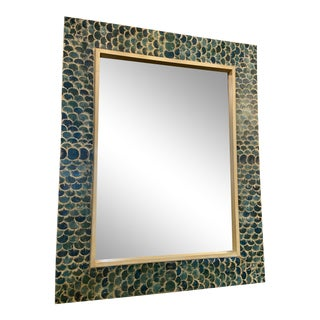 Fish Scale Framed Mirror For Sale