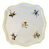 Image of Gio Ponti for Richard Ginori Equestrian Theme Porcelain Tray For Sale