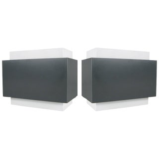 Pair of 1970s Louvered Cube Wall Sconces by Lightolier For Sale