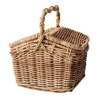 Vintage Double Lid Basket For Sale