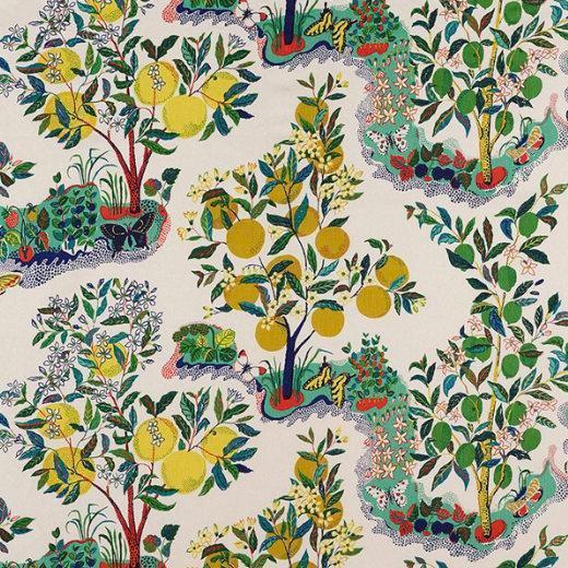 Schumacher Schumacher Citrus Garden Linen Pillow Cover For Sale - Image 4 of 5