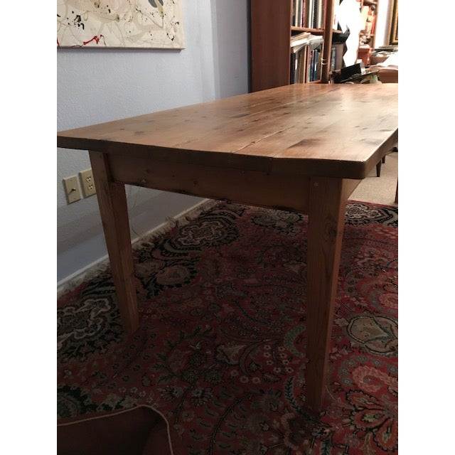 The Date Farmers Antique Pine Farm French Table For Sale - Image 4 of 13