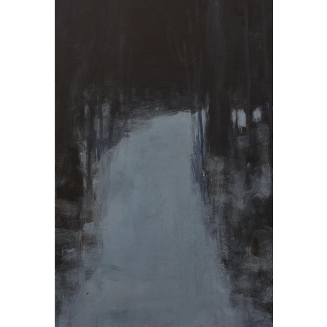 """Stephen Remick """"Turning Into the Night"""" Contemporary Abstract Landscape Acrylic Painting by Stephen Remick For Sale - Image 4 of 11"""