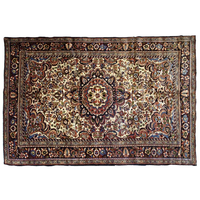 1900s, Handmade Antique Persian Sarouk Rug 3.1' X 5.2' For Sale - Image 11 of 12