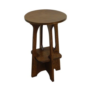 Mission Oak Custom Crafted Lamp Table After Limbert For Sale