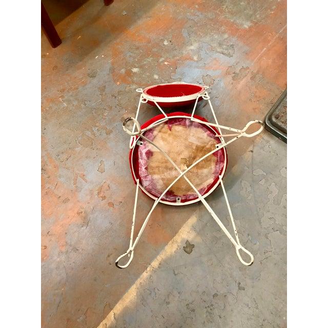 Vintage Teena Original Hollywood Regency Red Velvet Vanity Chair For Sale In Charleston - Image 6 of 12