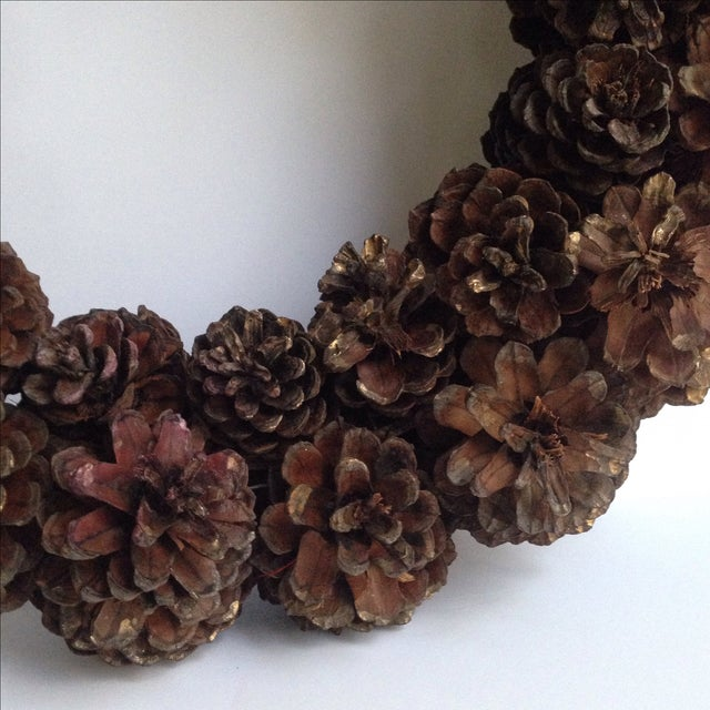 Vintage Natural Pinecone Wreath - Image 4 of 11
