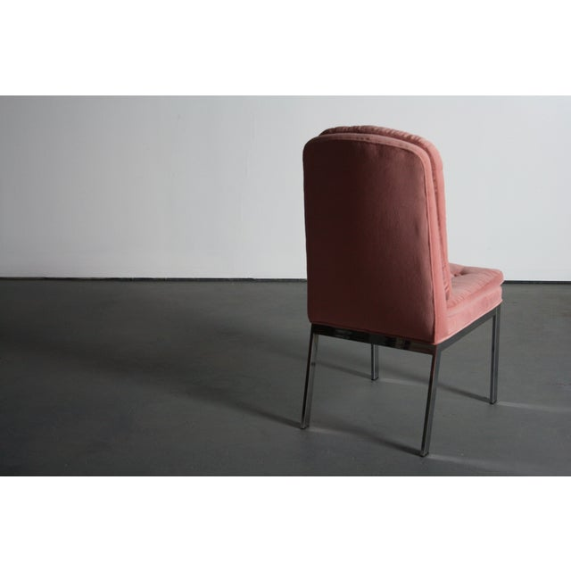Milo Baughman for DIA Blush Dining Chairs - S/6 For Sale - Image 12 of 12