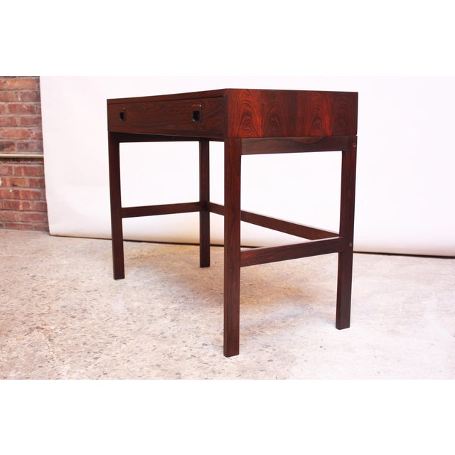 Diminutive Danish Modern Rosewood Desk by EJM Skive For Sale - Image 12 of 12